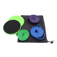 Workout core sliders fitness <span class=keywords><strong>oefening</strong></span> en Loop resistance bands