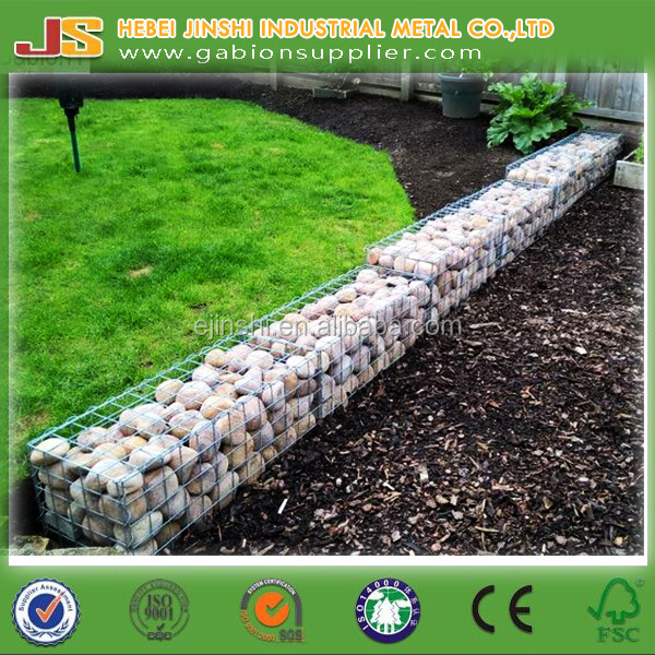 Top Erosion Control Welded type decorative gabion wall design for gardening