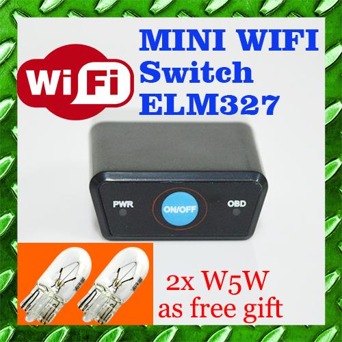 Новая версия wi-fi ELM327 OBD2 / OBDII ELM 327 V1.5 автомобиль кодекса сканера бесплатная доставка