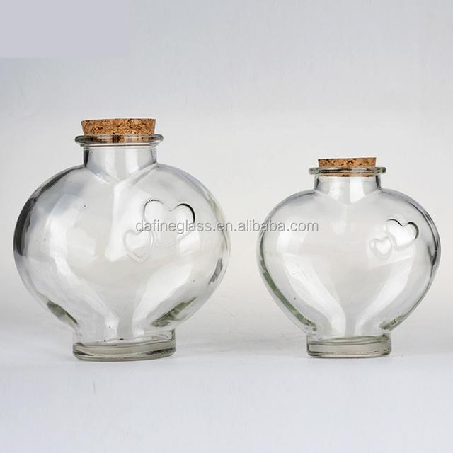 Heart Shaped Glass Bottle Cork Source Quality Heart Shaped Glass