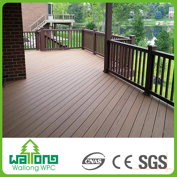 Durable Boat Oak Engineered Flooring Rubber Composite Decking Wpc