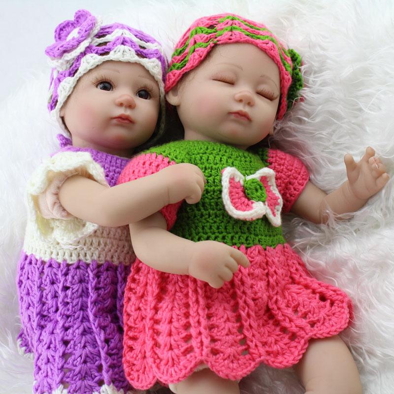 1f4b5e486d0 16 inch baby doll twins boy and girls set reborn baby dolls soft full vinyl