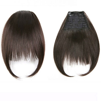 Remy Clip In Hair Extensions Human Bangs Straight Gradient Fringe Bang