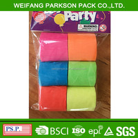 Factory party supplies colorful crepe paper streamer for party decorations