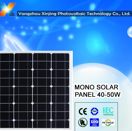 high efficiency monocrystalline solar panel 50w