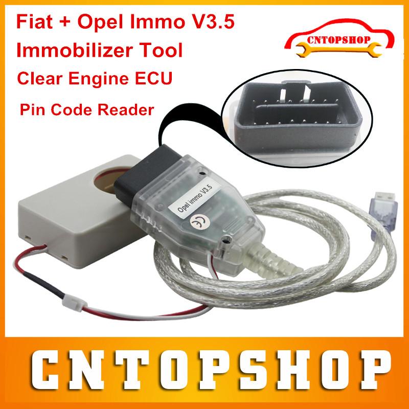 Очистки двигателя экю функция Opel Immo V3.5 авто про для Fiat / Opel иммобилайзер инструмент экю чип тюнинг чистый чтение Pin код