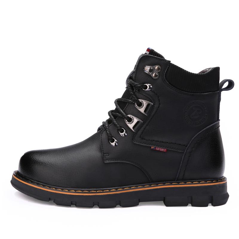 2014 Men Winter Fashion Snow Boots Men Genuine Leather