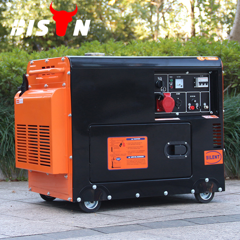 Bison China Sound Proof 50/60hz two cylinder direct injection hot sale 100% copper Super Silent Generator 10kw