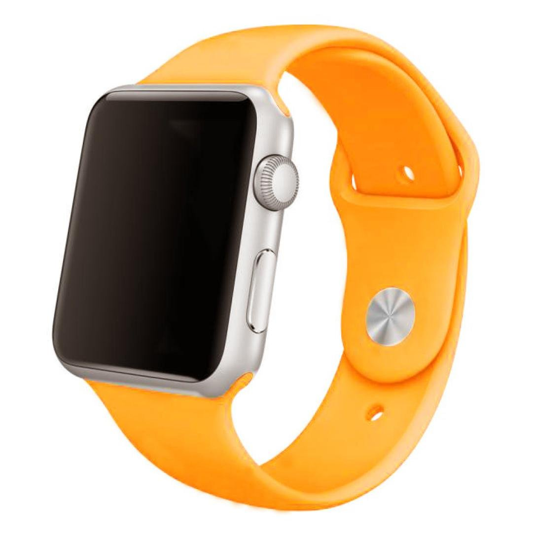 For Apple Watch Band , HP95(TM) Soft Silicone Replacement Sport Band for all Apple Watch Models (42mm, Yellow )