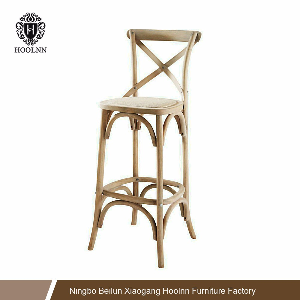 French Wood Crossback Bar Chair