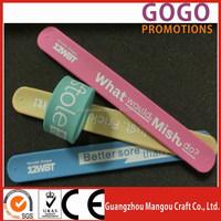 Good quality silicone slap band bracelet with company name and logo, Best Selling Items silicon Slap Band DIY Snap Bracelet