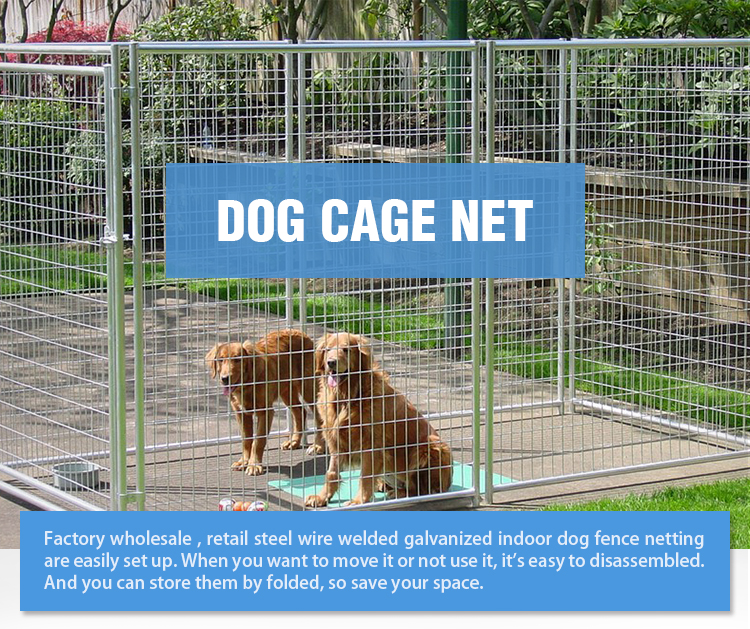 1.5x1.8m Welded Wire Panel Galvanized Outdoor Dog Kennel,Tube Dog ...