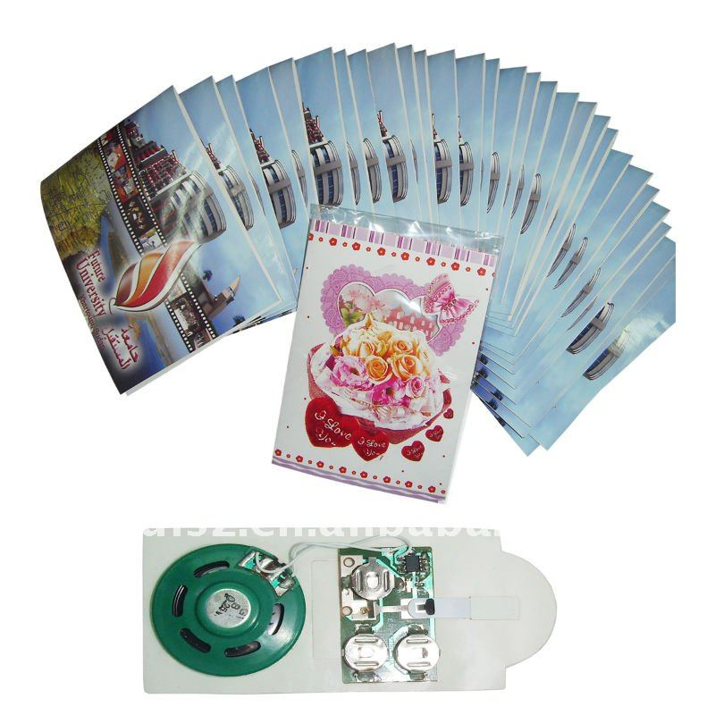 High quality greeting card voice chip with customer own sound