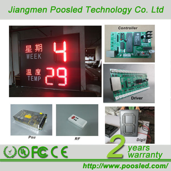 led time and temperature signdigital temperature led displayled display for time date temperature led display