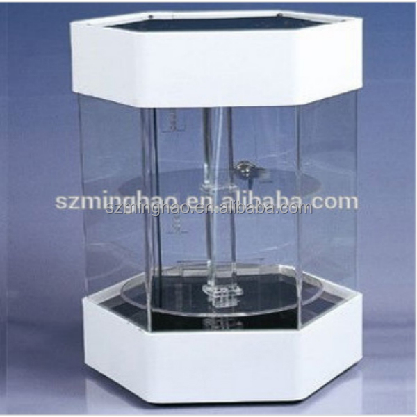 plastic lockable storage box acrylic display boxes with lock and led light - Lockable Storage Box