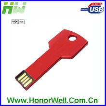 promotional usb key shaped flash drive memory stick blue and red key usb