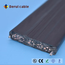 Flexible special PVC sheath flat traveling elevator cable for CCTV Camera with steel wire