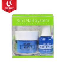 Custom private label acryl kleur pigment nail gel <span class=keywords><strong>nagellak</strong></span> dip <span class=keywords><strong>poeder</strong></span> 3 in 1 systeem