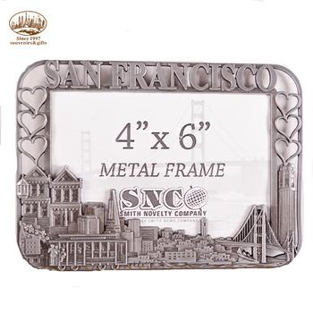 Cheap San Francisco souvenir high quality custom metal Photo frame ...