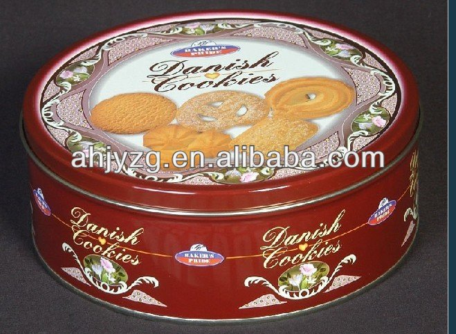 biscuit cookies tin can for packaging
