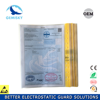 Waterproof ESD document holder A4 /A3 transparent envelope file bag