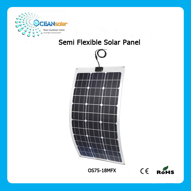 guangzhou manufacturer bendable solar energy panels 75w 18v