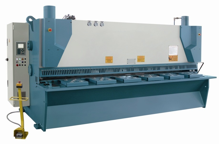High Precision steel plate hydraulic guillotine shear machine/sheet metal hand guillotine shear with Estun E21 system