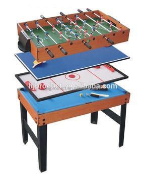 en bois 4 en 1 table multi jeux multifonction table de jeu. Black Bedroom Furniture Sets. Home Design Ideas