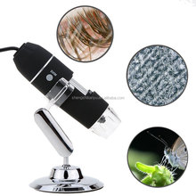 Portable USB Digital Microscope 1000x 8-LED Mini Microscope Camera Magnifier with Stand