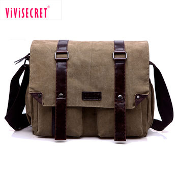 56a43c44de Customized design canvas leather satchel bag men s shoulder bags causal  sling big mens messenger bag