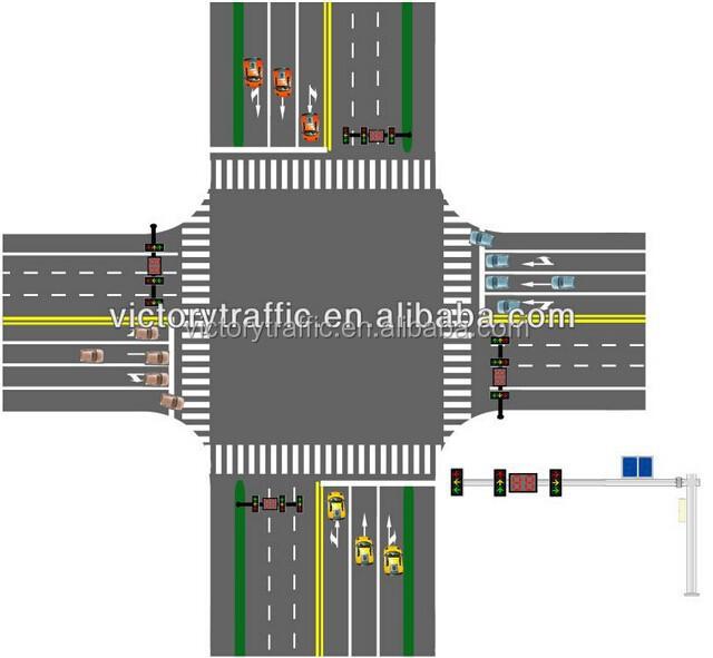Traffic Light Controller In Xilinx: 태양 광 무선 통신 제어 시스템/ 교차로 교통 신호/ 신호등 컨트롤러-교통 신호 -상품 ID