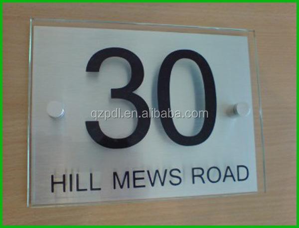 High Custom Acrylic Door Number Plate Buy Acrylic Door