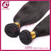 Cheap raw unprocessed 100g/piece Natural Vrigin Straight Human Hair Weft / Unprocessed Remy Indian Hair straight hair products