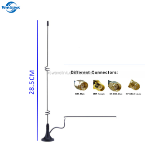 Factory Price Quad Band 850 900 1800 1900 Mhz GSM Spring Antenna With Magnetic Mount RG 174 Cable