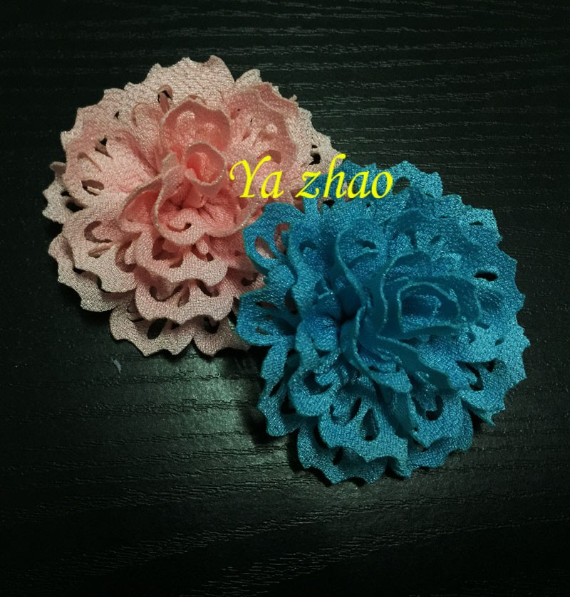 New Sytle Eyelet Fabric Flowers Hair Accessory For Kid's