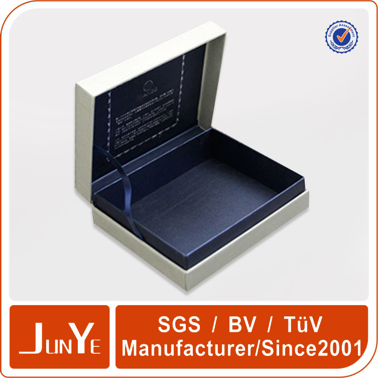 Leather products luxury paper wallet packaging box with lids