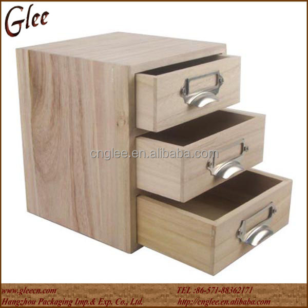 Small solid wood storage box wooden drawer drawers