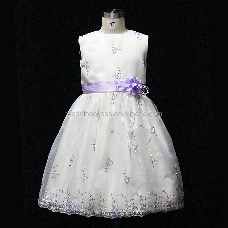 D3223A-IQ Lovely flower princess girl toddler evening dress for wedding