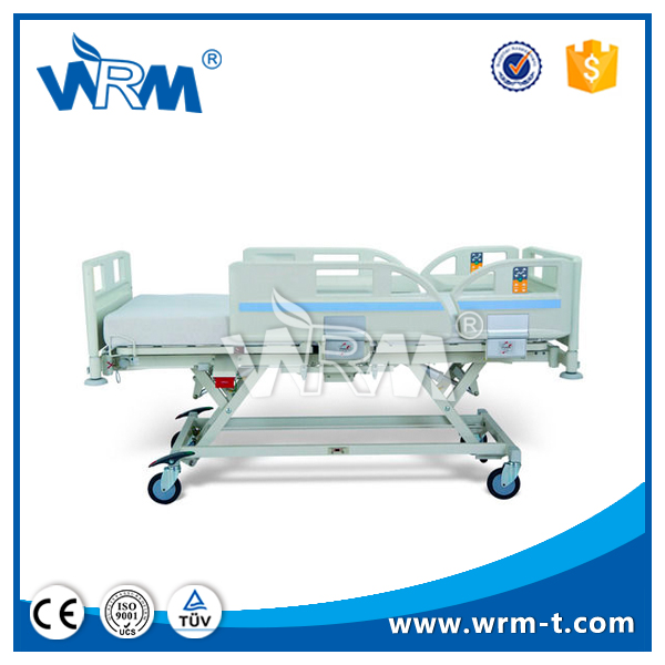 Folding medical nursing bed with toilet for disabled patient