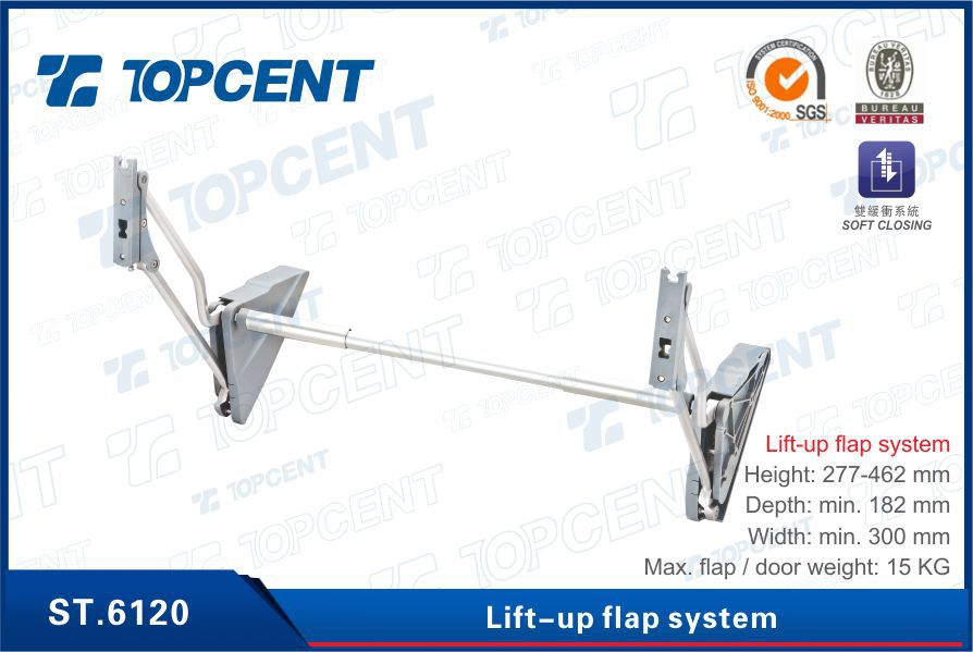 Kitchen Cabinet Door Support Hydraulic Arm Lid Stay For Furniture ...