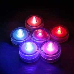 Cheap wholesale fountain lights led glow submersible high quality party colorful tealight candle