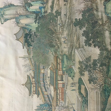 Famous Chinese jacquard woven fabric painting,Riverside Scene on the Pure Brightness Festival