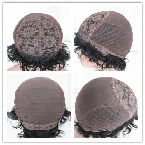 Hot Sale Short 8 Inch Machine Made Wig Cap Human Hair Wig For ...