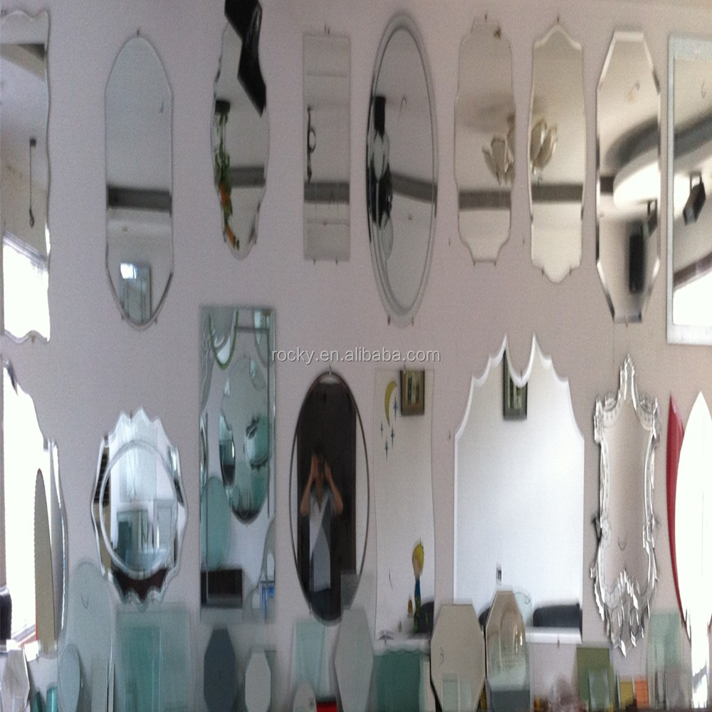 plate glass mirror price 1.8mm-6mm aluminum silver and copper free plate glass mirror price