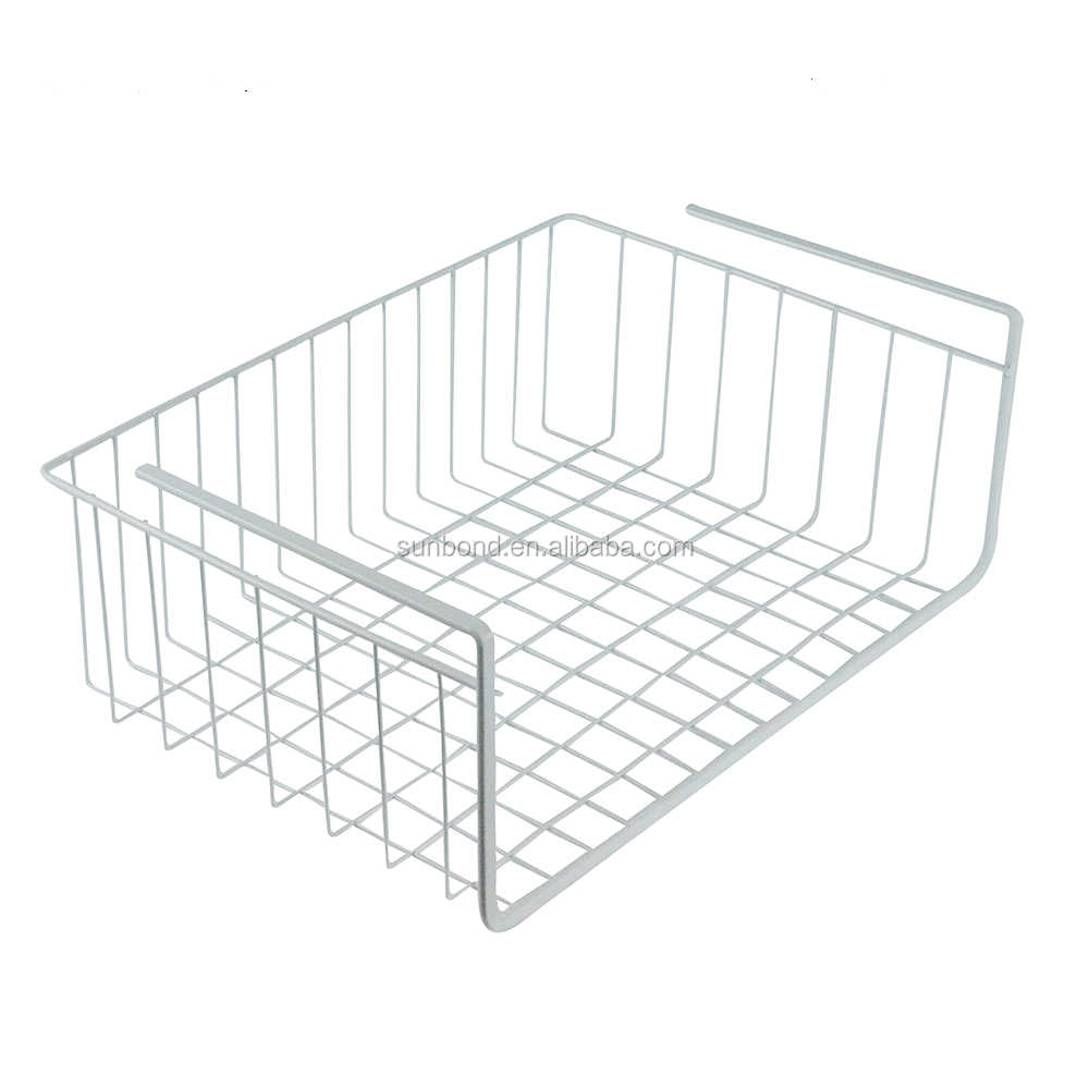 Under Closet Bookshelf Wire Mesh Metal Hanging Storage Baskets