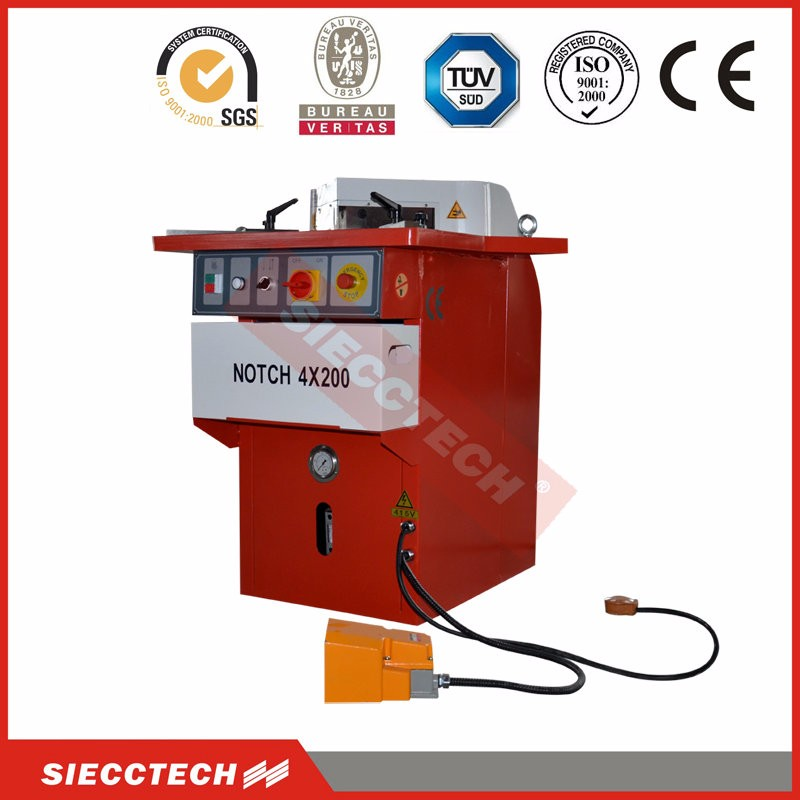 china supplier new product hydraulic notching machine,angle notching machine,notcher