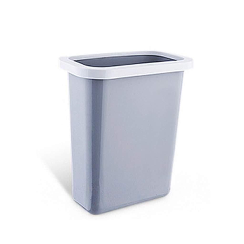 DZXM Trash Can Plastic Rubbish Storage Box Hanging Trash Bin Creative Garbage Storage,Gray