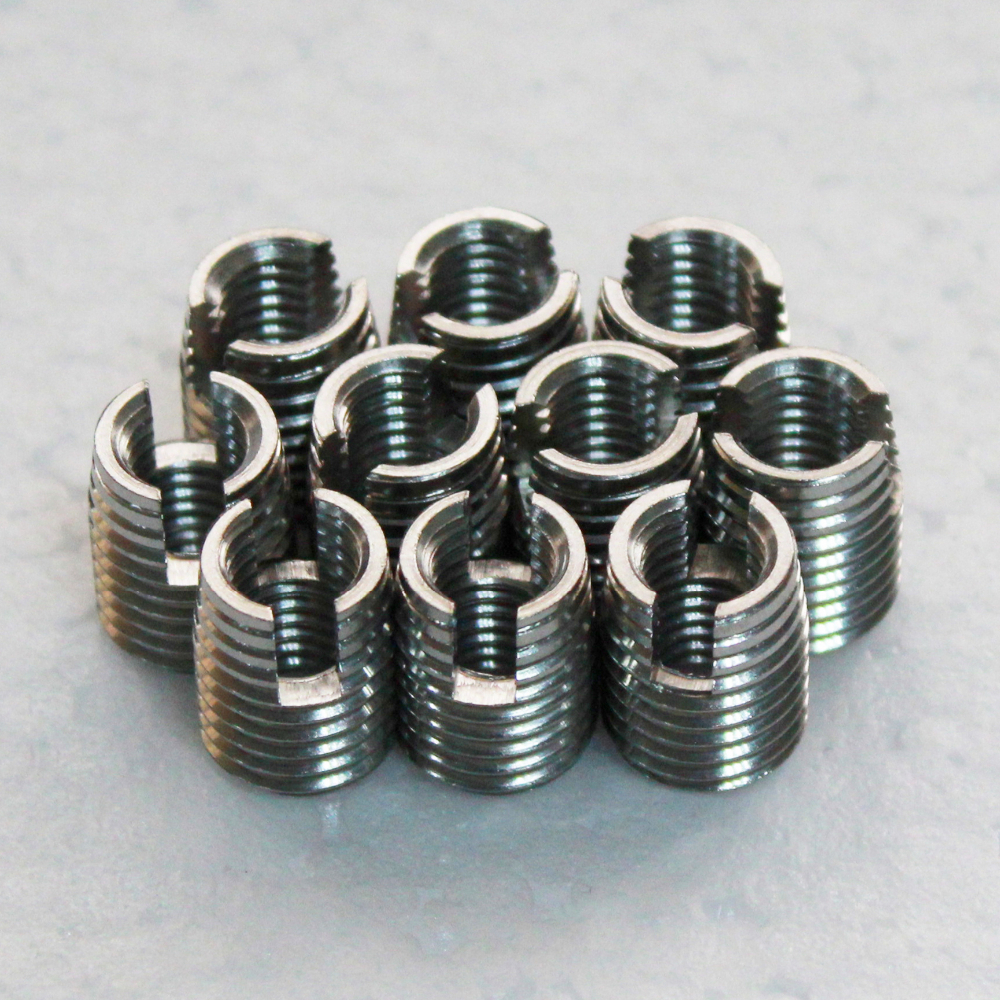 self tapping threaded inserts stainless <strong>steel</strong> direct sale 302 stainless <strong>steel</strong> with cutting slot