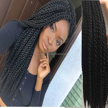 Wholesale price 3D Cubic Twist Crochet Braids Twist Hair Extensions Synthetic Ombre Havana Mambo