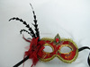 Wholesale Anime Masquerde Costume Party Mask Peacock Eye Feather Sequin mask yellow